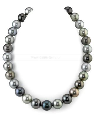 "Ожерелье ""микс"" из морского круглого Таитянского жемчуга 10,5-13,4 мм"