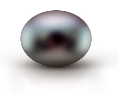 """Жемчужина """"пуговица"""" черная пресноводная 10,5-11 мм. Класс высокий"""