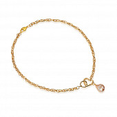 Цепочка-колье из ювелирного сплава с золотистым барочным жемчугом 8-12 мм