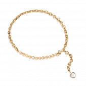 Цепочка-колье из ювелирного сплава с золотистым барочным жемчугом 8-9 мм