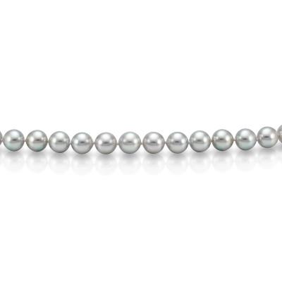 Ожерелье из серебристого морского жемчуга Акойя (Япония). Жемчужины 7-7,5 мм