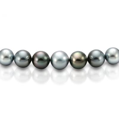 "Ожерелье ""микс"" из круглого морского Таитянского жемчуга 12,1-13,4 мм"