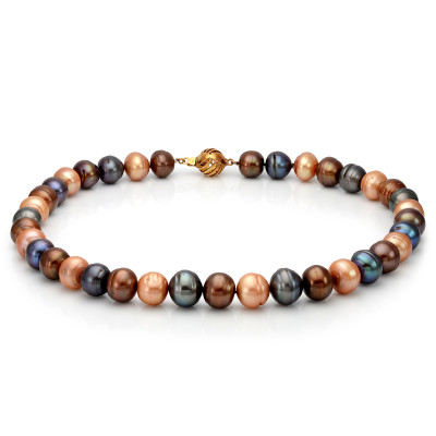 """Ожерелье """"микс"""" из цветного барочного жемчуга. Жемчужины 12-13 мм"""