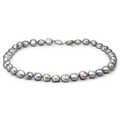 Ожерелье из серого барочного речного жемчуга. Жемчужины 12-13 мм